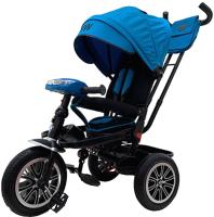 Детский велосипед с ручкой BMW Trike 3 колеса / BMW-5M-N1210-Lblue (голубой) -