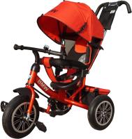 Детский велосипед с ручкой BMW Trike 3 колеса / BMW-N1210-Red (красный) -