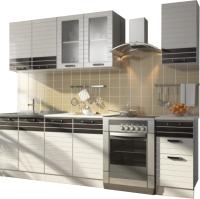 Готовая кухня Ricco Билона 2.0 (белый/белый глянец) -