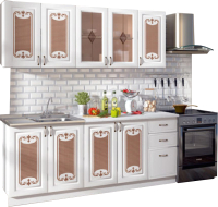 Готовая кухня Ricco Визаж 2.0 (белый/белый матовый) -