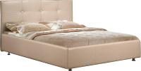 Полуторная кровать ФорестДекоГрупп Софи 200x140 (кремовый) -