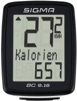 Велокомпьютер Sigma BC 9.16 / 09160 (черный) -