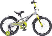Детский велосипед Black Aqua Velorun 16 KG1619 (серый/лимонный) -