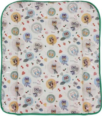 Пеленальный матрас Polini Kids Совы 77x72