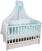 Комплект в кроватку Polini Kids Белые кудряшки 7 (140x70) -