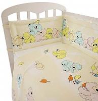 Комплект в кроватку Polini Kids Мишки 3 (120x60, желтый) -