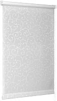 Рулонная штора Delfa Сантайм Жаккард Прима СРШ-01 МД8118 (57x170, белый) -