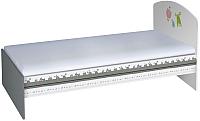 Односпальная кровать Polini Kids Basic Монстрики 90x180 (белый/серый) -