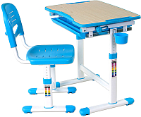Парта+стул FunDesk Piccolino (голубой) -