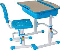 Парта+стул FunDesk Capri (голубой) -