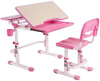 Парта+стул FunDesk Lavoro (розовый) -