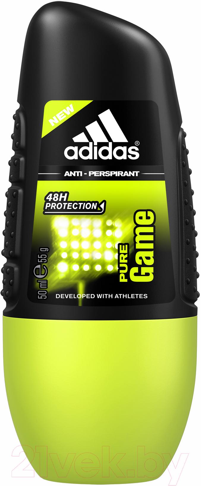 Купить Дезодорант шариковый Adidas, Pure Game Anti-Perspirant Roll-On антиперспирант (50мл), Испания