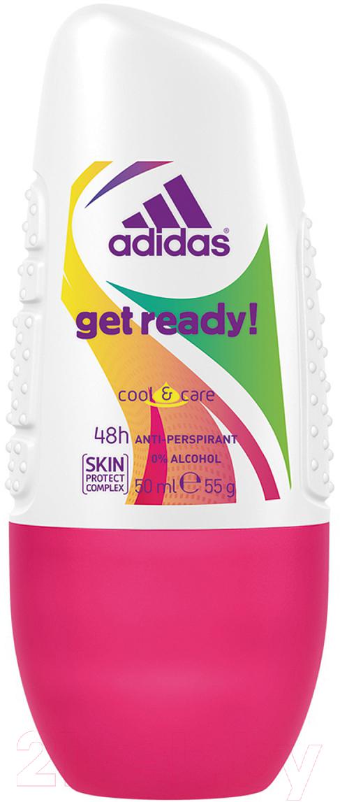 Купить Дезодорант шариковый Adidas, Cool&Care Get Ready 48ч антиперспирант (50мл), Испания