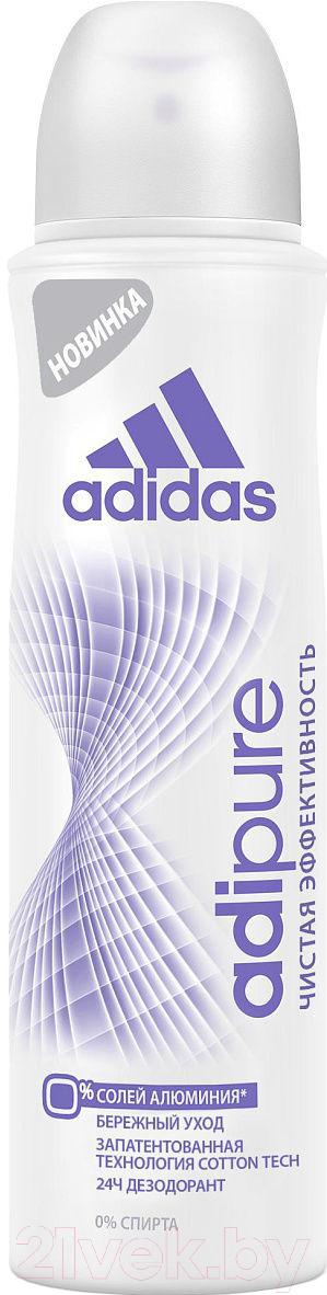 Купить Дезодорант-спрей Adidas, Adipure 24ч антиперспирант (150мл), Испания