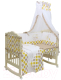 Комплект в кроватку Polini Kids Медвежонок Винни и его друзья 7 (макиато/желтый) -