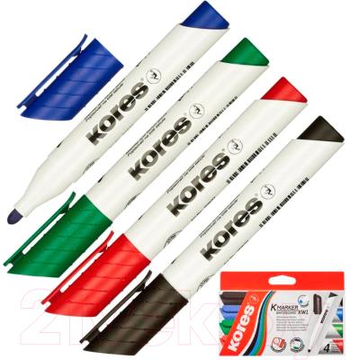 Набор маркеров Kores 20843.04 (4шт, ассорти)