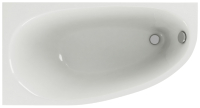 Ванна акриловая Aquatek Дива 160x90 L (с каркасом и экраном) -
