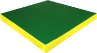 Гимнастический мат Юный Атлет 1x1x0.1м (синий/зеленый/желтый) -