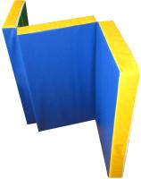 Гимнастический мат Юный Атлет Складной 1.5x1x0.1м (синий/зеленый/желтый) -