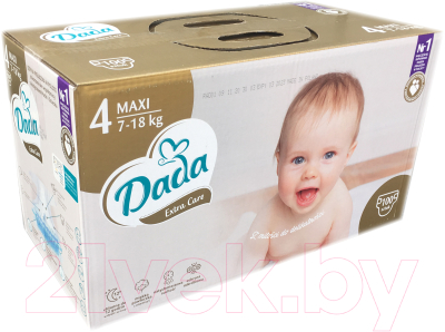Подгузники детские Dada Extra Care Maxi 4 Box New (100шт)