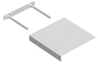 Полка Domax FS 24/24 BI / 650501 (235x235, белый) -