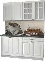 Готовая кухня Интерлиния Мила Деко 1.6 А (белый/кастилло темный) -