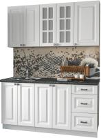 Готовая кухня Интерлиния Мила Деко 1.6 Б (белый/кастилло темный) -