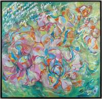Авторская картина ХO-Gallery Лечу в цветах к человечеству / НЧ–2020–003 (Н. Черноголова) -