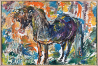 Авторская картина ХO-Gallery Дикая лошадь / НЧ–2020–004 (Н. Черноголова) -