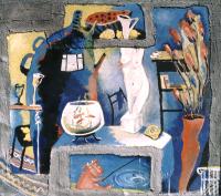 Авторская картина ХO-Gallery Натюрморт с аквариумом / ИТ–2020–003 (И. Тарасова) -
