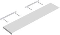 Полка Domax FS 118/24 BI / 651401 (1180x235, белый) -