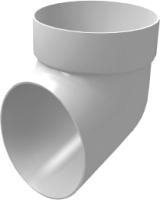 Колено для водостока Grand Line Стандарт ПВХ сливное (белый) -