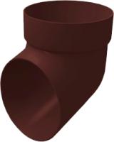 Колено для водостока Grand Line Стандарт ПВХ сливное (шоколадный) -