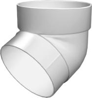 Колено для водостока Grand Line Стандарт ПВХ 67 градусов (белый) -