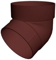 Колено для водостока Grand Line Стандарт ПВХ 67 градусов (шоколадный) -