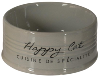 Миска для животных Duvo Plus Happy Cat / 11712/DV (серый) -