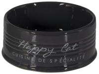 Миска для животных Duvo Plus Happy Cat / 11711/DV (черный) -