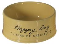 Миска для животных Duvo Plus Happy Dog / 11716/DV (желтый) -