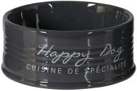 Миска для животных Duvo Plus Happy Dog / 11714/DV (черный) -