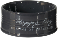 Миска для животных Duvo Plus Happy Dog / 11717/DV (черный) -