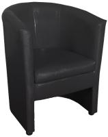 Кресло мягкое Lama мебель Рико (Teos Black) -