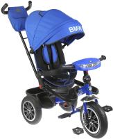 Детский велосипед с ручкой BMW Trike 3 колеса / BMW5-M-N1210-LBLUE (голубой) -