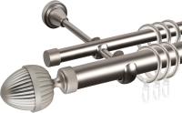 Карниз для штор АС ФОРОС Grace D25Г/16Г + наконечники Милано (2.4м, сатин) -