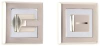Фиксатор дверной защелки VELA WC-Quadro (матовый никель/хром) -