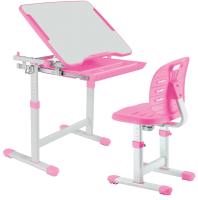 Парта+стул FunDesk Piccolino III (розовый) -