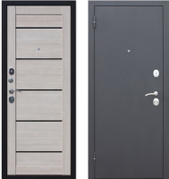 Входная дверь Гарда Муар Царга 6мм Лиственница мокко (86x205, левая) -