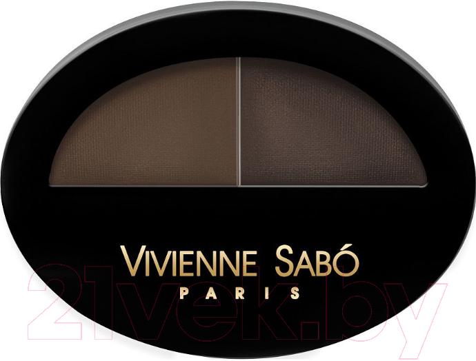 Купить Тени для бровей Vivienne Sabo, Brow Arcade тон 02, Франция, брюнет/шатен (коричневый)