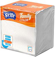 Бумажные салфетки Grite Family (24x24, белый) -