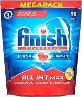 Таблетки для посудомоечных машин Finish All in One Лимон (90шт) -