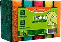 Набор губок для мытья посуды Хозяюшка 96x64x31мм (5шт) -